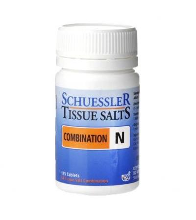 Schuessler Combination N Tissue Salts 125 Tablets