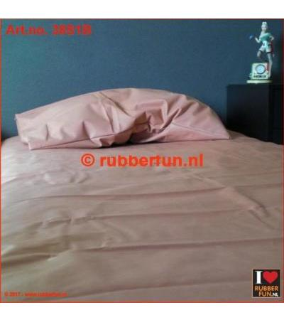 RUBBER BED SET 1B - BOTTOM SHEET PLUS PILLOW CASE Clinical red 0.42mm
