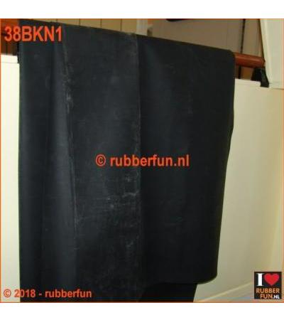 RUBBER SHEETING - BLACK - NATURAL RUBBER - 90 CM WIDE - 0.50 MM THICK. [NEW 2018]