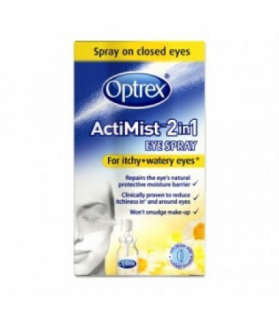 Optrex Actimist 2in1 Eye Spray For Itchy + Watery Eyes
