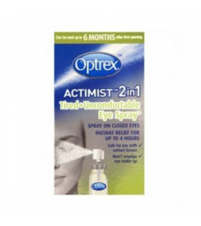 Optrex Actimist 2 in 1 Eye Spray for Tired + Uncomfortable Eyes 10ml