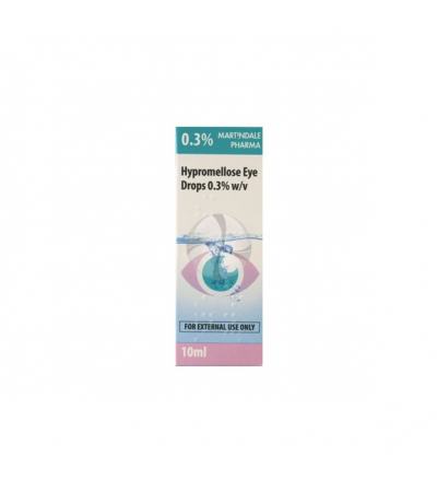 Hypromellose eye drops 0.3% - 10ml - dry/irritated eyes