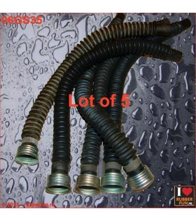 GAS MASK HOSE - 1X FEMALE CONNECTOR - LOT OF 5