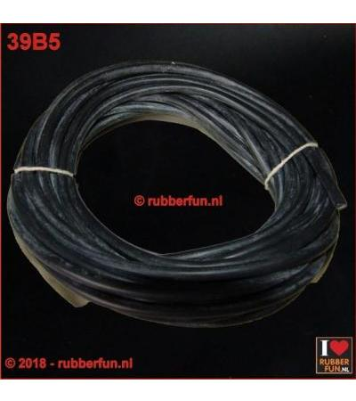 RUBBER TUBING - BLACK NR RUBBER - 10X14 ММ