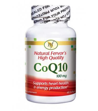 Natural Fervor Food Supplement CoQ10 100 mg