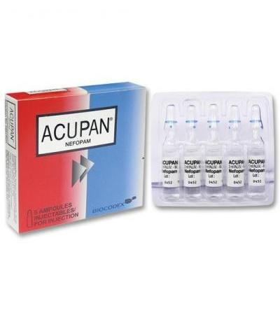 ACUPAN (néfopam (chlorhydrate de)), solution injectable