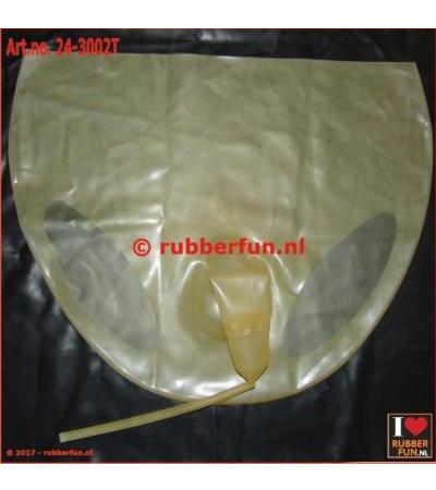 Flushing pants - male - with sheath - semi-clear